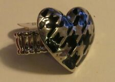 Houndstooth Heart Stretch Ring Bama Fans
