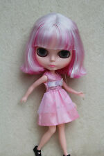 "12"" Takara Neo Blythe Dolls from Factory Nude Dolls Pink Short Curly Hair 6GK"
