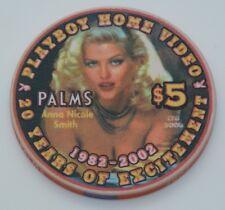 Playboy Club Palms $5 Casino Chip Las Vegas Nevada B et G Anna Nicole Smith 2002