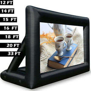 Inflatable movie projector screen outdoor portable bag without blower