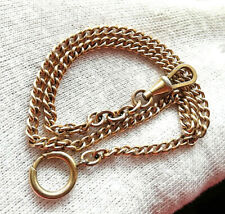 OLD GOLD PLATED CHAIN Kyustek FOR POCKET WATCH - 360mm.