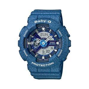 New Casio Baby-G Tandem Series World Time BA-110DC-2A2 BA110DC-2A2 Women's Watch