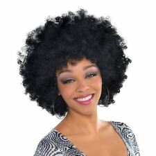 Amscan Oversized Afro Wig Halloween Fancy Dress Costume Black Disco Accessory