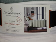 Hearth & Hand with Magnolia Green FULL/QUEEN Engineered Stripe Quilt
