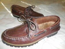 SPERRY TOPSIDER 1935 Brown NATURAL LEATHER BOAT/DECK SHOE 9M (0761932)