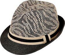 Unisex Trilby Fedora Hat T707Z Tiger Stripes Brown Black Medium