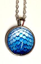 X1 Blue Dragon Egg Pendant Necklace