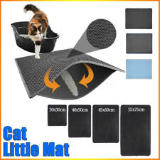 Double Layer Cat Litter Mat Box Non-slip Trapper Waterproof Cats Pet Rug Trays