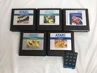Atari 5200 Cartridge Game Lot Of 5 Tested - Pac-Man, Galaxian, Kangaroo, +more