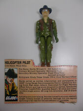 Vintage 1983 GI Joe ARAH Helicopter Pilot WILD BILL Figure Complete w File Card