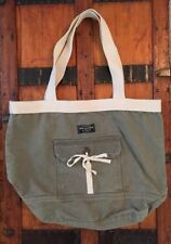 Abercrombie & Fitch Classic Canvas Tote Book School Bag EUC