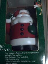 Navidad Lindo Péndulo agitando Santa Claus/Papá Noel holding LED Vela