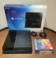 Boxed Sony PlayStation 4 500GB Black Console Bundle & 4 Games (NO CONTROLLER)