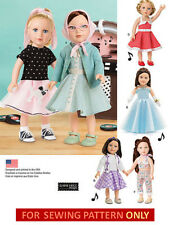 SEWING PATTERN! MAKE DOLL CLOTHES! FITS AMERICAN GIRL MARYELLEN! 50'S STYLES!