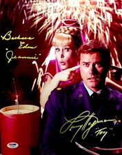 Barbara Eden Larry Hagman I Dream Of Jeannie Hand Signed Photo 11x14 PSA/DNA COA