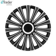"16"" Vivaro Wheel Trims Hubcaps Covers Set of 4 Black & Silver Wheels Trim"