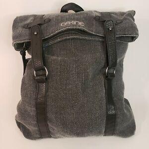 Dakine Driftwood 13L Backpack Gray Fold-over Black Adjustable Straps
