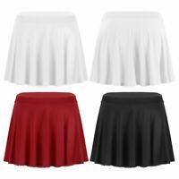 Women's Ultra-thin High Waist Stretchy Solid Flared Mini Pleated Skirt Nightwear
