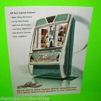 Rock Ola Model 425 Grand Prix Jukebox FLYER Original 1964 Phonograph Art DAMAGED