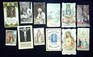 Lot de 12 images pieuses, religieuse (9)