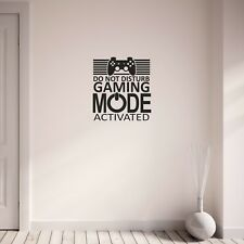 Gamer Do Not Disturb Gaming Mode Activated Wall Art Sticker Decal Home Decor