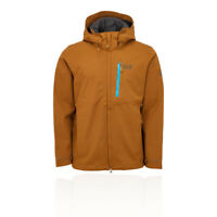 Jack Wolfskin Mens Keplar Trail Jacket Top Brown Sports Outdoors Full Zip Hooded