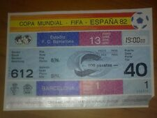 Ticket World Cup Spain 1982 ARGENTINA - BELGIUM