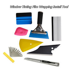 8 Pcs Autos Car Squeegee Window Tinting Film Wrapping Applicator Handle Tool Kit