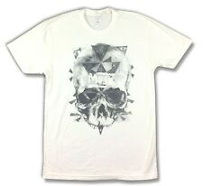 Muse Washed Out Skull White T Shirt New Official Adult Band Merch Free Pin Set