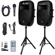 Reck Audio Dance 15 Portable 15-Inch 2000 Watt 2-Way Powered PA Speaker System