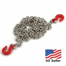 Yeah Racing 1/10 RC Accessories - 96cm Long Chain and Hook Red Set YEA-YA-0357