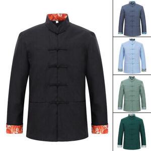 Mens Traditional Chinese Tang Suit Coat Jacket Martial Arts Wing Chun Uniform