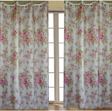 Pair Country Rose US Style Hookless Curtain .