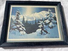 "Byron Birdsall ""McKinley Winter Light"" Watercolor Painting Alaska 1980 7.5"" x 6"""