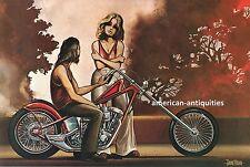 Dave David Mann Biker Art Motorcycle Chopper Poster Print Easyriders Pick Up