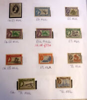 LOT OF 11 OLD GILBERT & ELLICE IS STAMPS, QEII SG63-72, ALL MINT