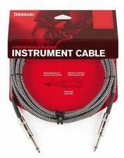 D'Addario Braided Instrument Cable Grey 10 feet PW-BG-10BG