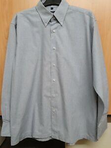 Mens Ben Sherman Light Blue Check Long Sleeved Shirt. Size L