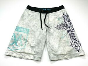 Affliction Men's Size 34 Cross Swim Trunks Board Shorts