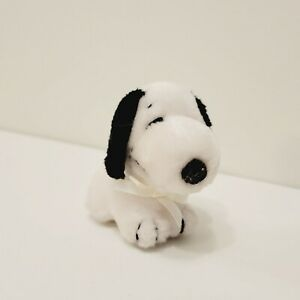 VINTAGE Baby Snoopy 4 x 3 Plush Toy 1968 United Feature Syndicate Rattle RARE