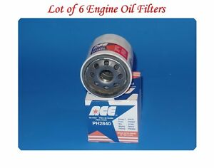 6 Engine Oil Filter ACE Made In USA For Chevrolet  Scion Nissan Suzuki Toyota &