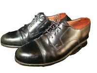Bostonian Classics First Flex Mens Leather Black Cap Toe Dress Oxfords Size 10.5