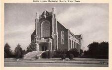 Postcard Austin Avenue Methodist Church Waco Tx