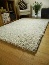 Small X Large Size Thick Plain Soft Shaggy Rug Non Shed 5cm Pile Modern Rugs Oatmeal 60x120cm (2x4')