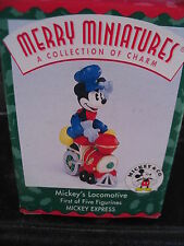Hallmark 1998 Merry Miniatures Mickey'S Locomotive Mib