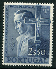 PORTUGAL # 801 VF Light Hinged Issue - MANUEL DA NOBREGA AND CRUCIFIX - S6176