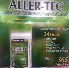 Kirkland Aller-Tec Cetirizine HCL 10 mg/Antihistamine 365 Tablets Compare Zyrtec