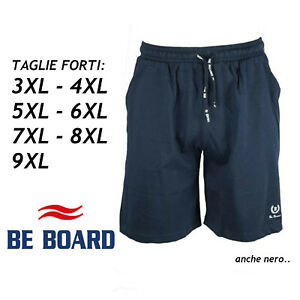Pantaloncini Bermuda Tuta Uomo Taglie Forti Blu Nero 3XL 4XL 5XL 6XL 7XL 8XL 9XL