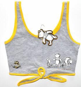 Primark Winnie The Pooh Disney Tie Crop Top Tee Ladies Womens UK size 6 to 14
