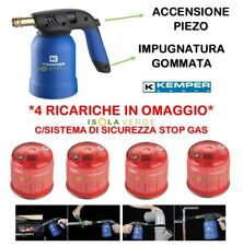 SALDATORE BRUCIATORE + 4 CARTUCCIA CANNELLO PIEZO KEMPER A GAS FIAMMA OSSIDRICA